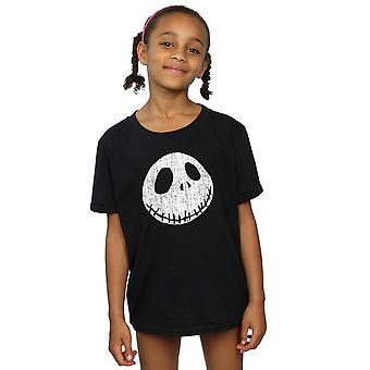 Disney Girls Nightmare Before Christmas Jack Cracked Face T-Shirt