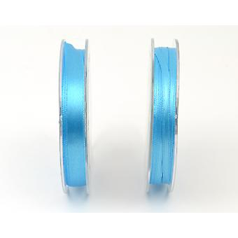 3mm Polyester Satin Craft Ribbon - 10m Reel - Turquoise