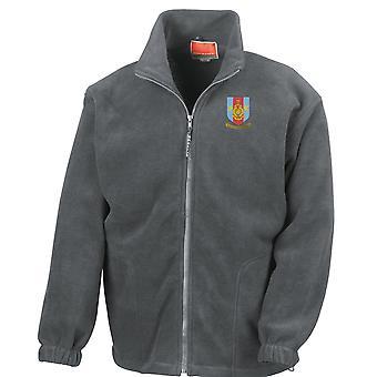 RMR Merseyside Crest broderad Logo - officiell Royal Marines - Full Zip Fleece
