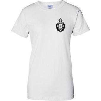 MOD con licencia - Royal Engineers Insignia B&W - señoras pecho diseño t-shirt