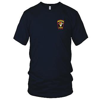 US Army - 3rd Squadron 6th Air Cavalry Aviation Attack Regiment D Troop Embroidered Patch - Ladies T Shirt
