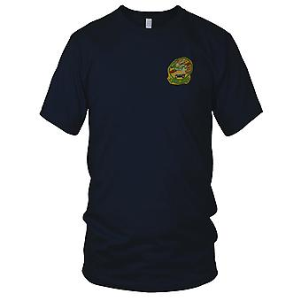 USMC Marines HMM-363 Helicopter Support - Hand Sewn Vietnam War Embroidered Patch - Mens T Shirt