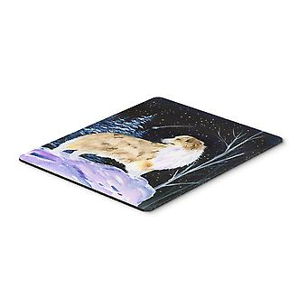 Starry Night Australian Shepherd Mouse Pad / Hot Pad / Trivet