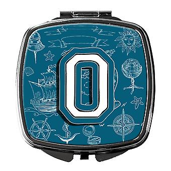 Letter O Sea Doodles Initial Alphabet Compact Mirror