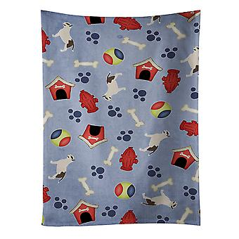 Carolines Treasures  BB3978KTWL Bull Terrier Dog House Collection Kitchen Towel
