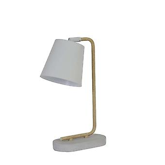 Light & Living Table Lamp 25x14x45 Cm SALAUN White-concrete With Wood