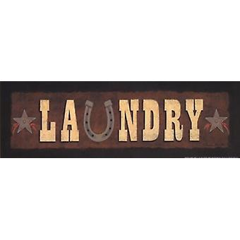 Western Laundry Poster Print by Becca Barton (18 x 6)