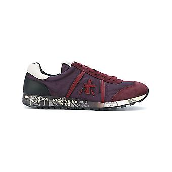 Premiata men's LUCY2452 Bordeaux red/purple suede of sneakers