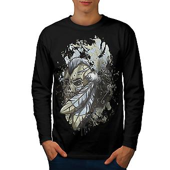 Feder indische Dead Men BlackLong Sleeve T-shirt | Wellcoda