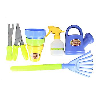 Roots & Shoots Plastic Kids Gardening Set 8 Piece Toy Set