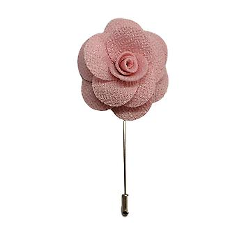 Baby Pink Handmade Flower/Rose Lapel Pin for wearing with men's suit jacket, blazer, dinner jacket or tuxedo jacket