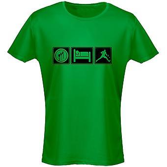 Eten slapen Tennis Womens T-Shirt 8 kleuren (8-20) door swagwear