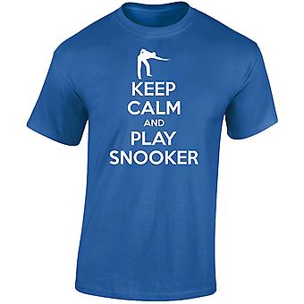 Mantener la calma y jugar billar para hombre camiseta 10 colores (S-3XL) por swagwear