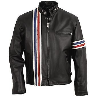 Men's Patriot Cowhide Leather Jacket - July 4th Special!
