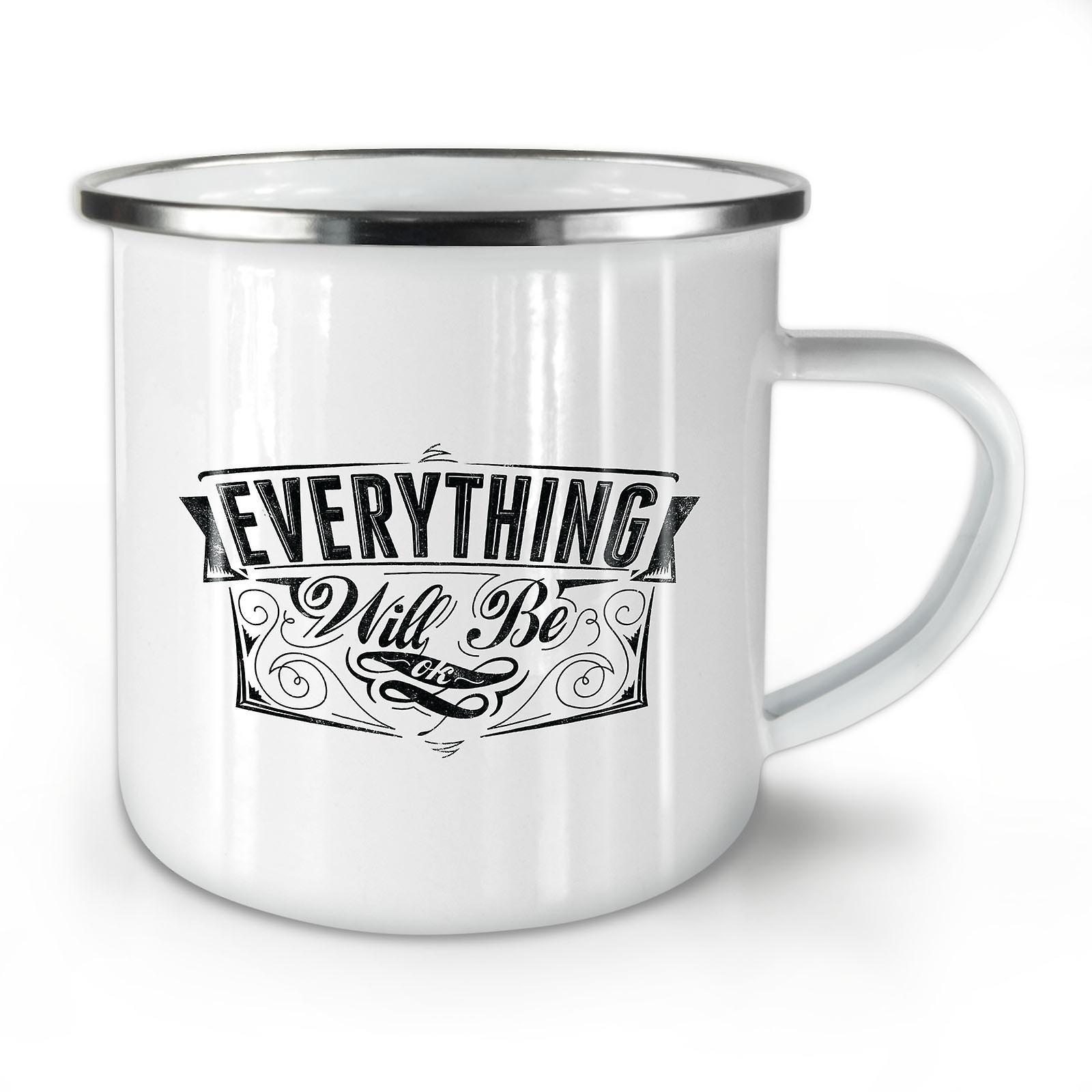 Slogan Café Ok Est Nouveau OzWellcoda Émail Tout Whitetea Mug10 N0OnXwP8kZ