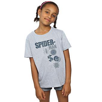 Marvel Spiderman Abzeichen T-Shirt für Mädchen