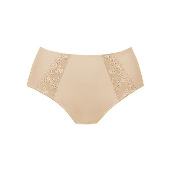 Rosa Faia 1341-753 Women's Grazia Desert Nude Embroidered Full Panty Highwaist Brief