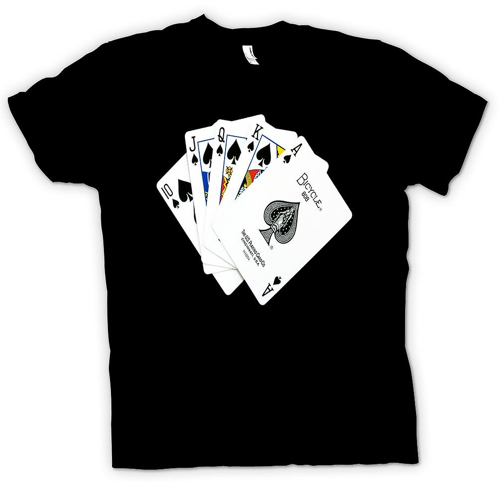 Mens T-shirt-Poker Royal Flush