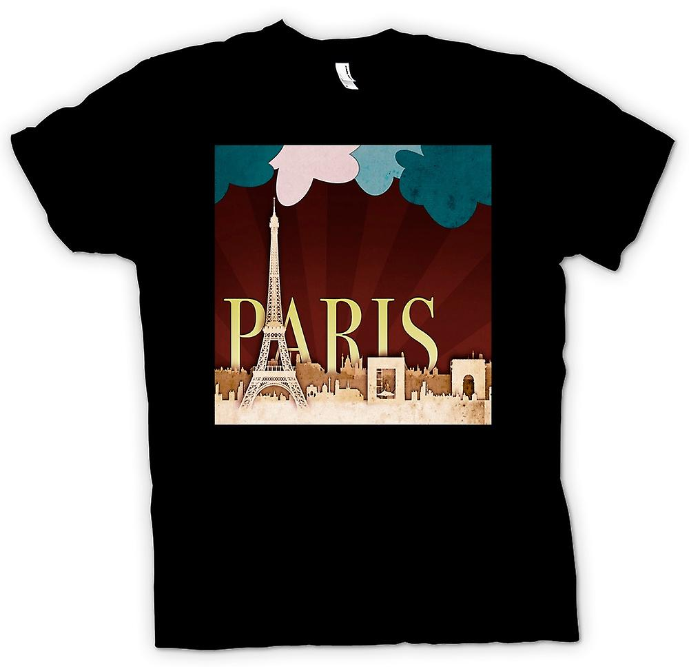 Kids T-shirt - Cool Retro Paris Poster
