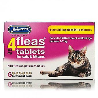 Johnsons 4 Tabletten für Katzen und Kätzchen, 6 Tabletten