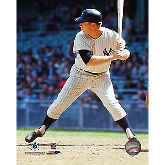 Mickey Mantle 1965 Action Photo Print