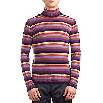 Prada Herren Kaschmir Rollkragen gestreiften Pullover Multicolor