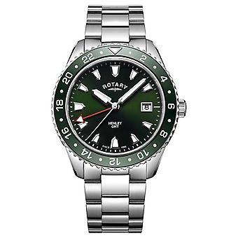 Rotary Mens Henley Green Stainless Steel Quartz GB05108/24 Watch