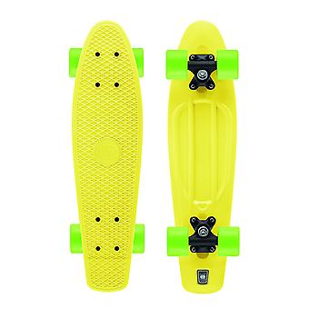 Xootz Kid's Retro Plastic Cruiser Skateboard Yellow 22-Inch