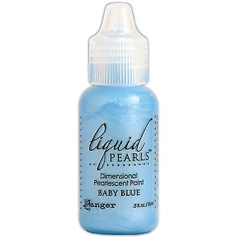Liquid Pearls Dimensional Pearlescent Paint .5oz-Baby Blue