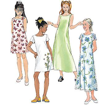 Girls' Dresses In 2 Lengths-7-8-10 -*SEWING PATTERN*