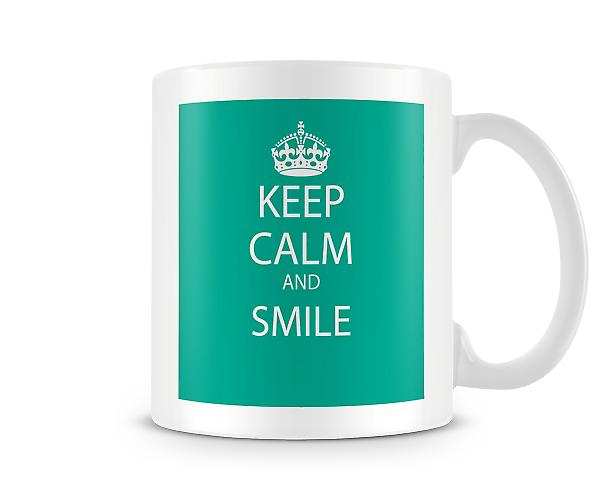Keep Calm And Smile Printed Mug