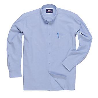 sUw - Mens Oxford Easycare Polycotton Long Sleeve Shirt