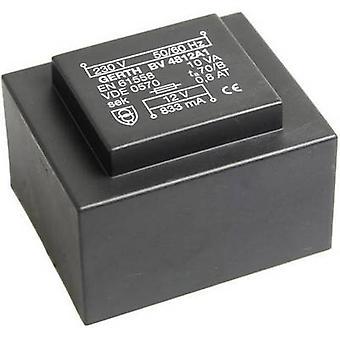 PCB mount transformer 1 x 230 V 2 x 15 V AC 10 VA 333 mA PT483002 Gerth