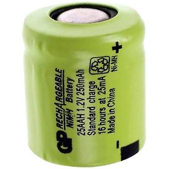 Non standard di GP25AAH di batterie GP batteria (ricaricabile) 1/3 AA Flat top NiMH 1.2 V 250 mAh