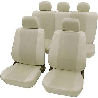 Petex 26174809 Sydney Seat covers 11-piece Polyester Beige Drivers seat, Passenger seat, Back seat