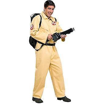 Ghostbusters Deluxe Ghost Busters Movie Cartoon Mens Costume & Proton Backpack