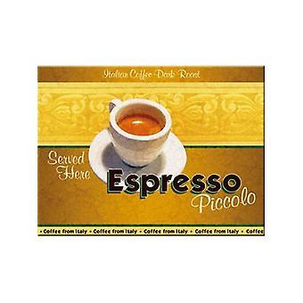 Imán de nevera acero café espresso