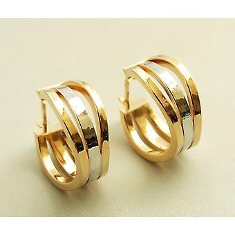 Christian 14 k bicolor gold earrings