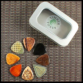 Timber Tones Luxury Tin of 8 Acoustic Guitar Picks  TIMT-ACOU-LMT-8