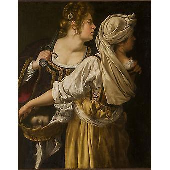 Judith und ihre Maidser, Artemisia Gentileschi, 50x40cm