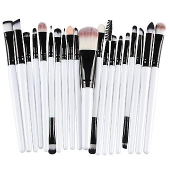Multi pack with makeup brushes-Black with white shaft