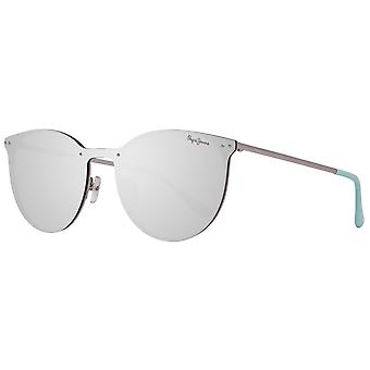 Sunglasses silver mirrored Pepe jeans for women