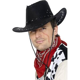 Suede Look Cowboy Hat, One Size
