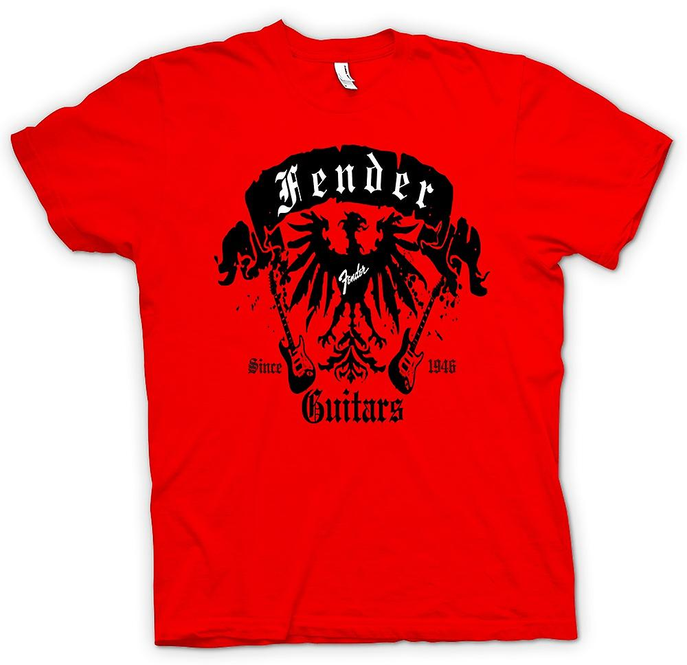Mens T-shirt - Fender Strat Guitars 46 - Rock