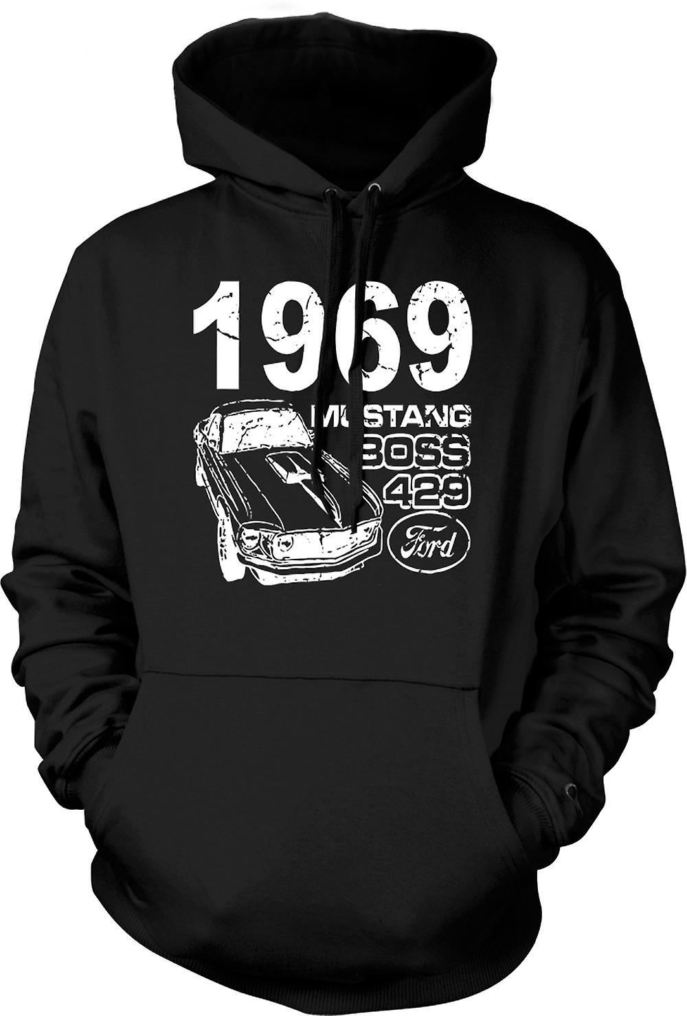 Los niños con capucha - 1969 Mustang Boss 429 - coche clásico U.S.