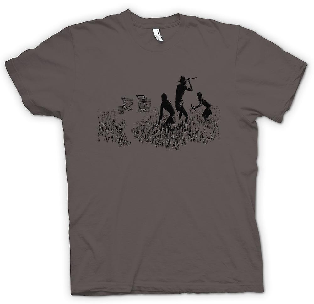 Heren T-shirt - Banksy Graffiti Art - Jagers