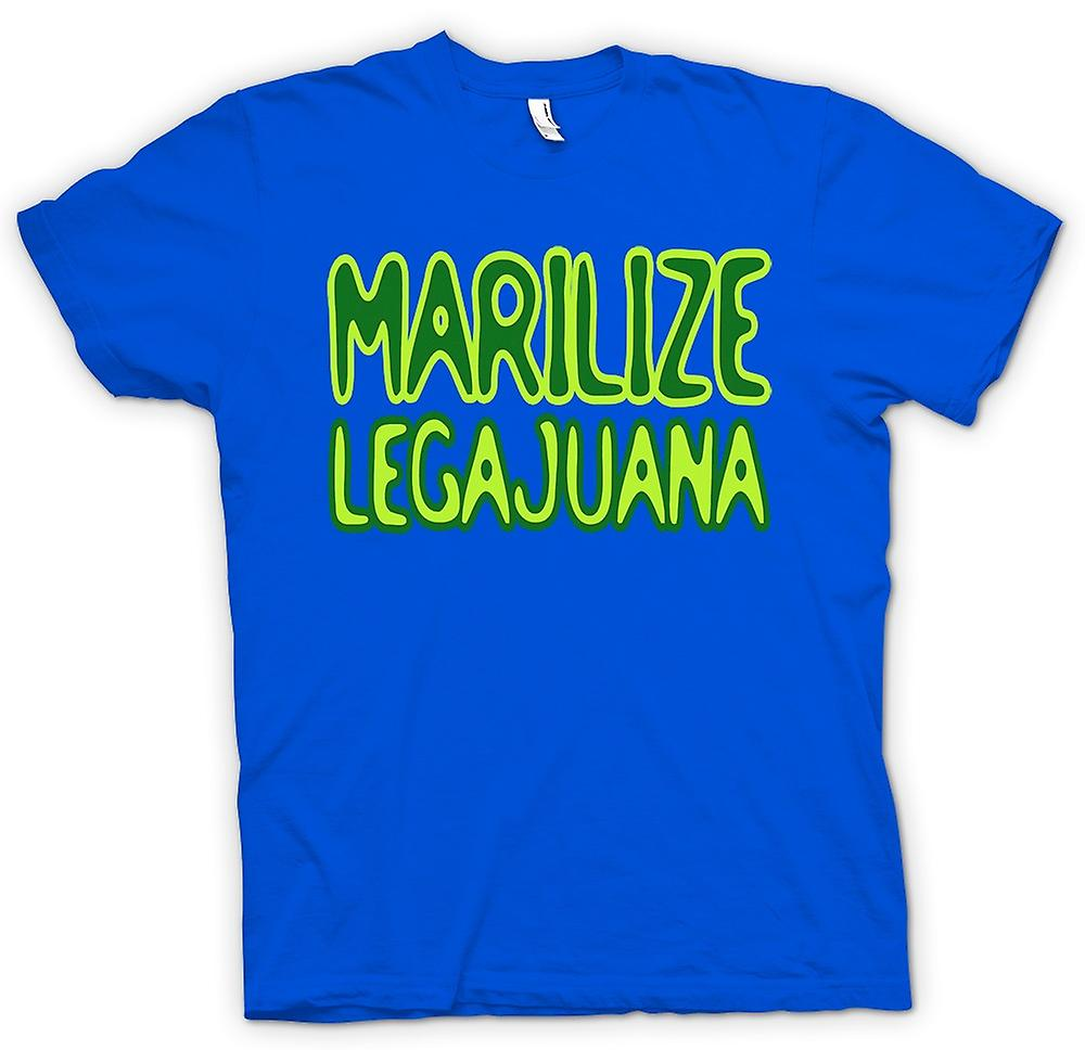 Mens T-shirt-Marilize Legajuana onkruid