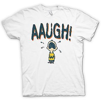 Herre T-shirt - Charlie Brown - AAUGH!