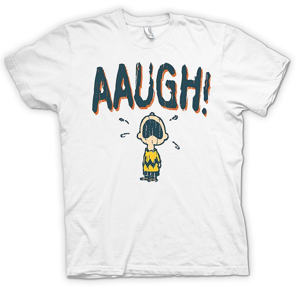 Womens T-shirt - Charlie Brown - AAUGH!