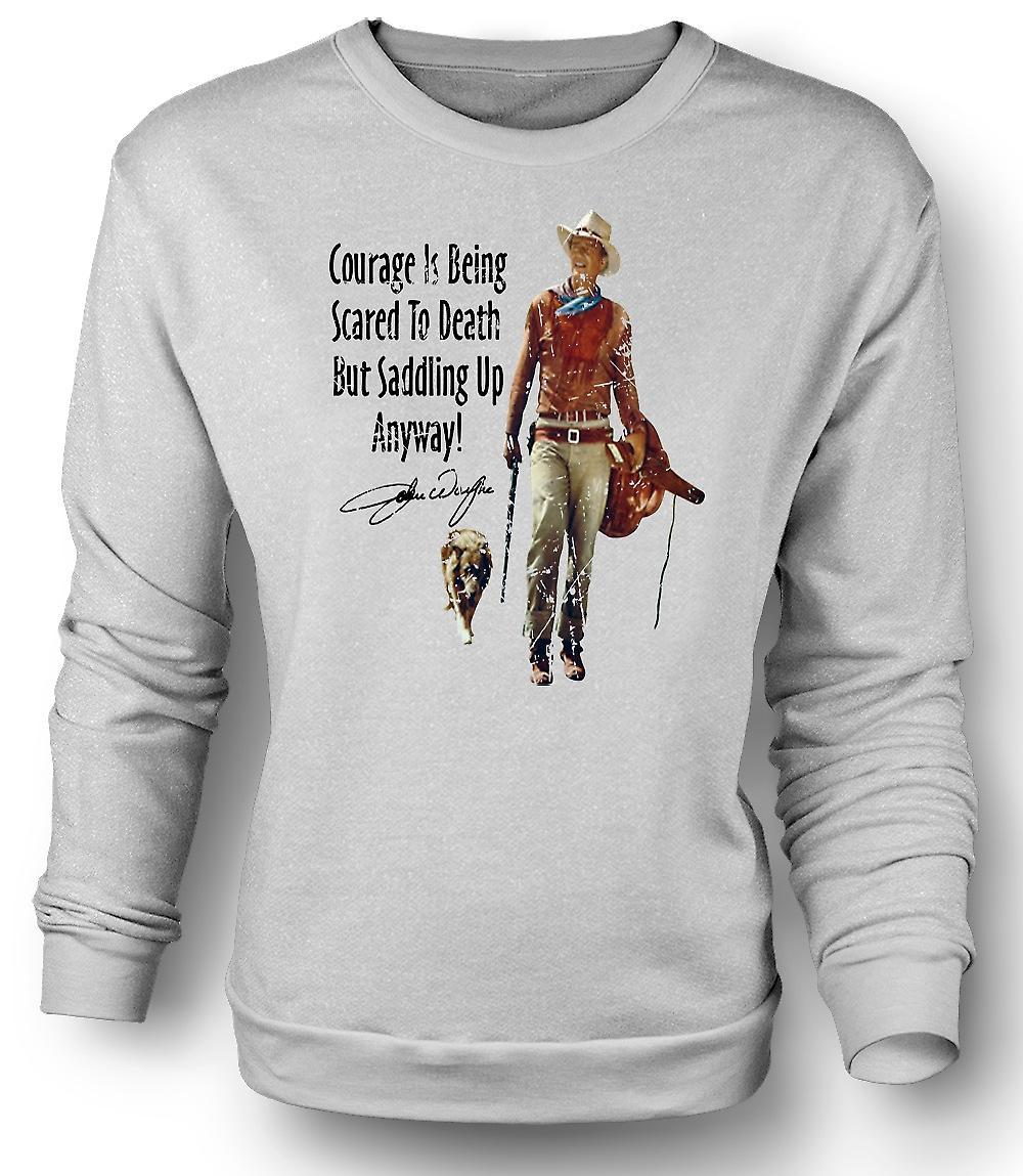 Mens felpa John Wayne coraggio - Cowboy Western